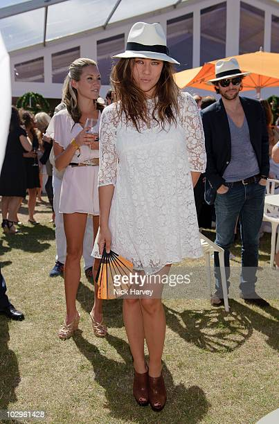 Mylene Jampanoi attends the Veuve Clicquot Gold Cup Final at Cowdray Park on July 18 2010 in Midhurst England