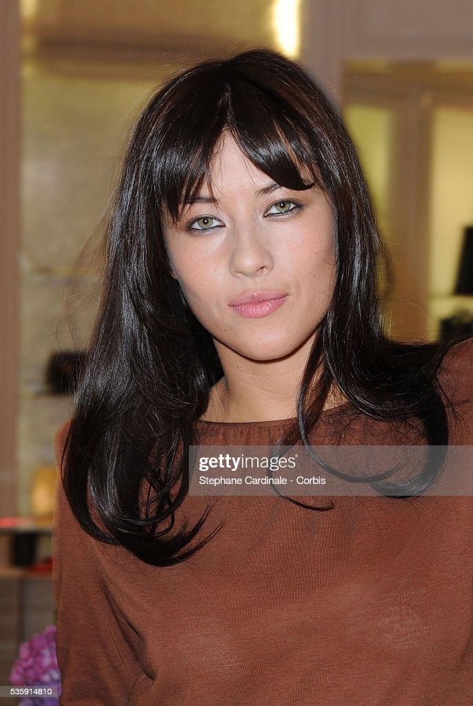 Mylene Jampanoi attends the Vogue Fashion Celebration Night at Christian Dior in Paris.