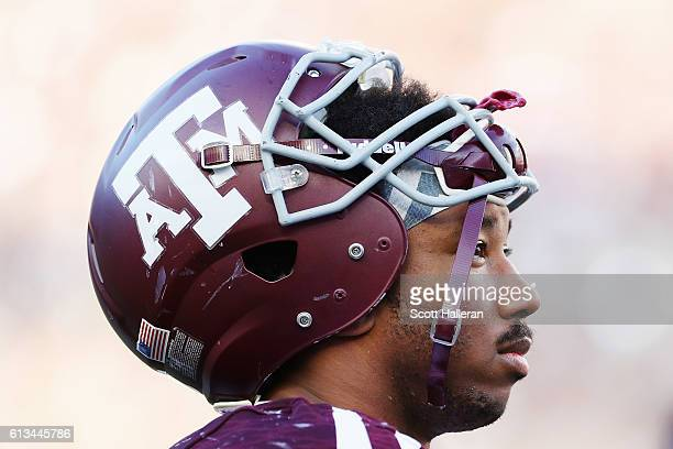 Myles Garrett of the Texas AM Aggies waits near the bench in the second half of their game against the Tennessee Volunteers at Kyle Field on October...
