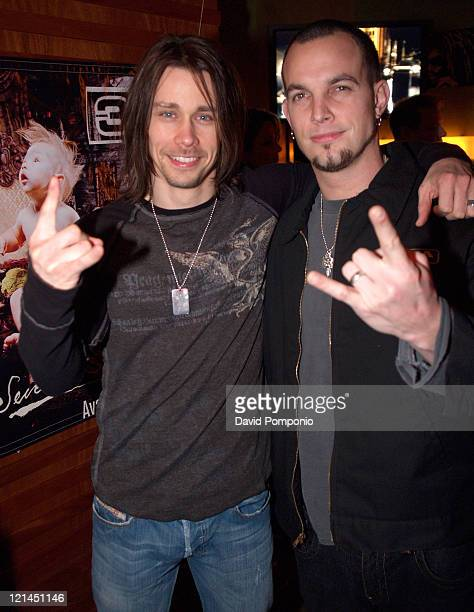 Myles Kennedy and Mark Tremonti of Alter Bridge during 3 Doors Down 'Seventeen Days' Album Release Party at Crash Mansion in New York City New York...