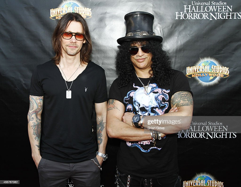 Myles Kennedy and Slash attend 'Halloween Horror Nights' With The Annual 'Eyegore Awards' Honoring Hollywood Horror Icons at Universal Studios...