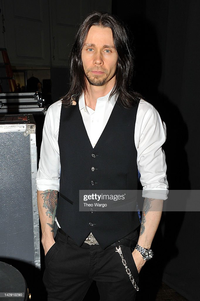 Myles Kennedy attends the 27th Annual Rock And Roll Hall Of Fame Induction Ceremony at Public Hall on April 14 2012 in Cleveland Ohio
