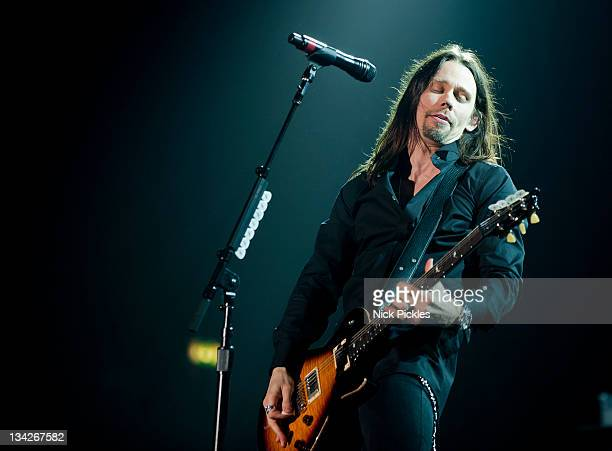 Myles Kennedy of Alter Bridge performs at Wembley Arena on November 29 2011 in London England