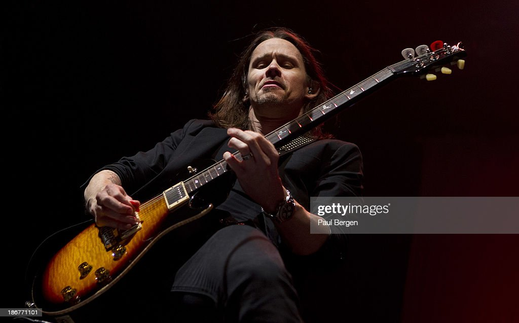 Myles Kennedy of Alter Bridge performs on stage at Ziggodome on November 3 2013 in Amsterdam Netherlands