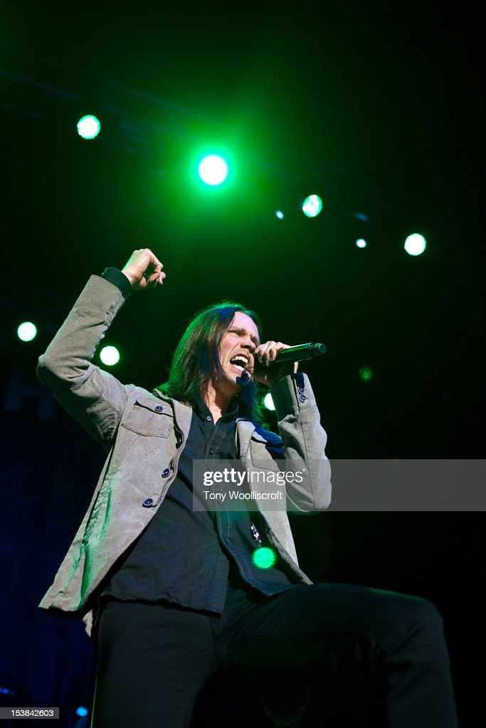 Myles Kennedy of Slash performs at NIA Arena on October 9 2012 in Birmingham England