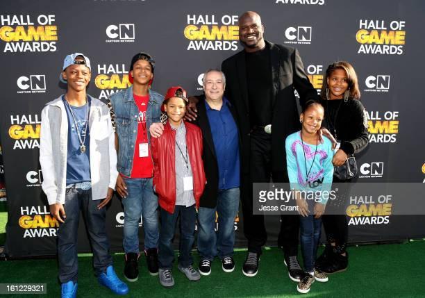 Myles O'Neal Shaqir O'Neal Shareef O'Neal President/COO of Cartoon Network Stuart Snyder host Shaquille O'Neal Me'arah O'Neal and Taahirah O'Neal...