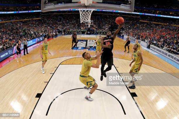 Myles Stephens of the Princeton Tigers shoots the ball against the Notre Dame Fighting Irish during the first round of the 2017 NCAA Men's Basketball...