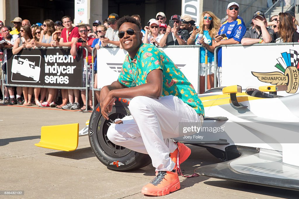 <a gi-track='captionPersonalityLinkClicked' href=/galleries/search?phrase=Myles+Turner+-+Basketball+Player&family=editorial&specificpeople=12698395 ng-click='$event.stopPropagation()'>Myles Turner</a> of the Indiana Pacers attends the 100th running of the Indianapolis 500 at Indianapolis Motorspeedway on May 29, 2016 in Indianapolis, Indiana. on May 29, 2016