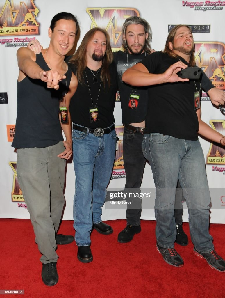 Mynas walks the red carpet at the Vegas Rocks! Magazine Awards on August 26, 2012 in Las Vegas, Nevada.