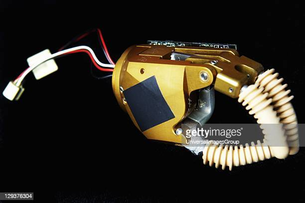 Myoelectric prosthetic hand designed for child Myoelectric prostheses are electrically operated utilizing the voltage generated when flexing the...