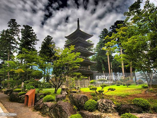 Myosen-ji temple is on Island Sado in Japan