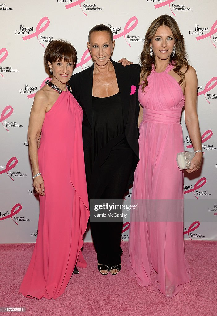 Myra Biblowit, Donna Karan and Elizabeth Hurley attend The Breast Cancer Foundation's 2014 Hot Pink Party at Waldorf Astoria Hotel on April 28, 2014 in New York City.