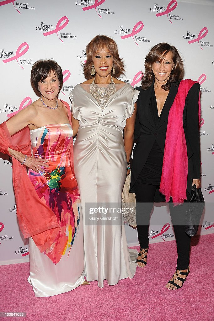 Myra Biblowit, President of Breast Cancer Research Foundation, TV personality <a gi-track='captionPersonalityLinkClicked' href=/galleries/search?phrase=Gayle+King&family=editorial&specificpeople=215469 ng-click='$event.stopPropagation()'>Gayle King</a> and designer Donna Karan attend The Breast Cancer Research Foundation's 2013 Hot Pink Party at The Waldorf=Astoria on April 17, 2013 in New York City.