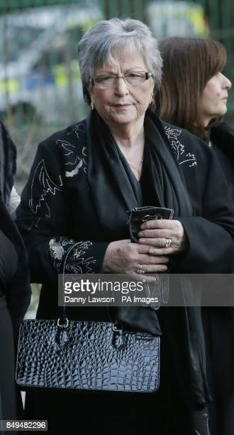 Myra Fallon attends the funeral of her husband former Celtic assistant manager Sean Fallon at Christ the King Church in Glasgow Scotland