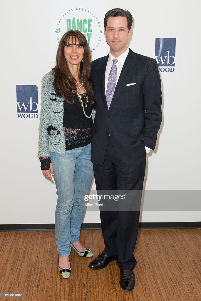 Myra Scheer and Nick Nickelson attend the Dance This Way launch party at WB Wood on February 28, 2013 in New York City.