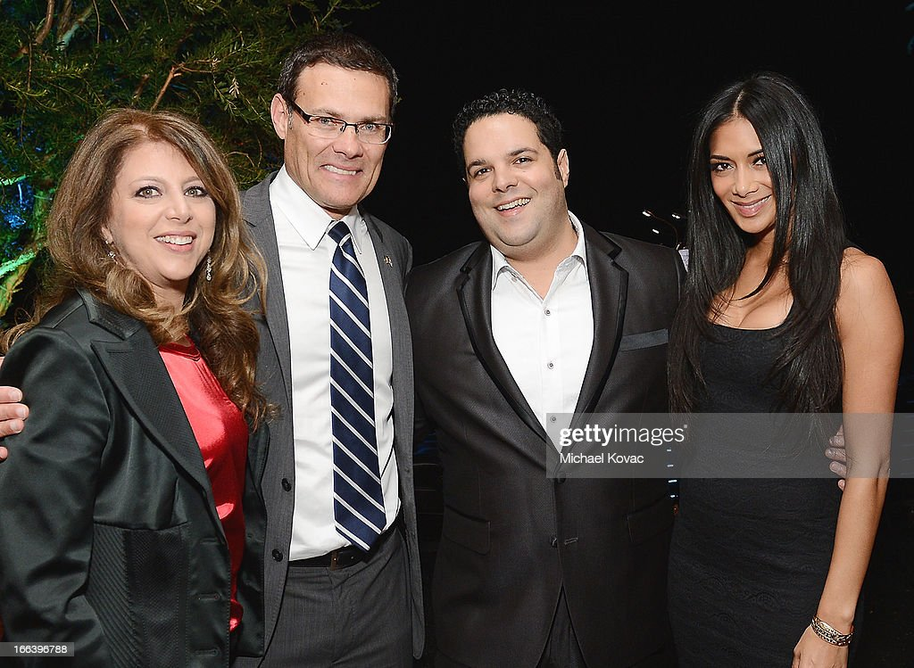 Myra Siegel, Consul General of Israel David Siegel, singer Fernando Varela, and singer <a gi-track='captionPersonalityLinkClicked' href=/galleries/search?phrase=Nicole+Scherzinger&family=editorial&specificpeople=678971 ng-click='$event.stopPropagation()'>Nicole Scherzinger</a> attend The Israeli Consulate Celebrates Israel's 65th Independence Day at Nobu Malibu on April 11, 2013 in Los Angeles, California.