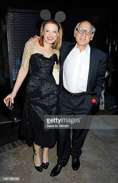 Myriam Blundell and Michael Nyman attend the Contemporary Art Society Auction Gala at the Farmiloe Building on February 29 2012 in London England