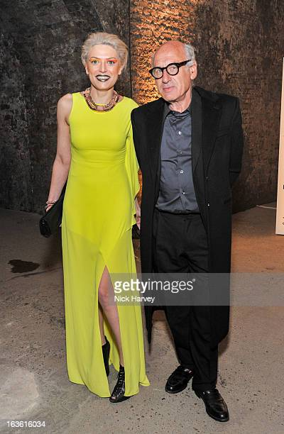Myriam Blundell and Michael Nyman attend the Wanderlust Contemporary Art Society Annual Fundraising Gala sponsored by Boucheron at the Old Vic...