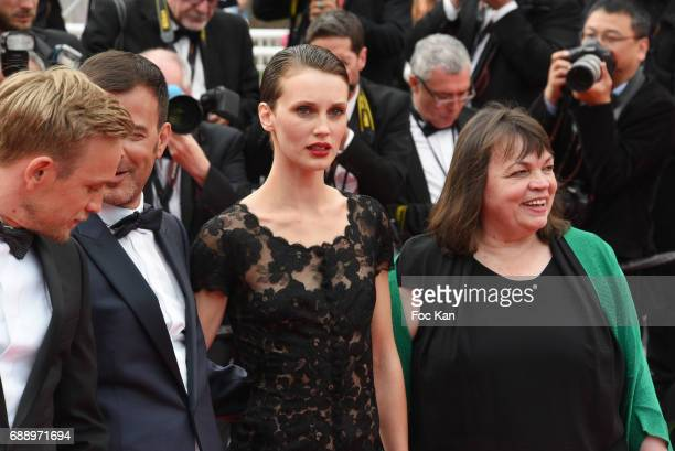 Myriam Boyer Marine Vacth director Francois Ozon and Jeremie Renier attend 'Amant Double ' Red Carpet Arrivals during the 70th annual Cannes Film...