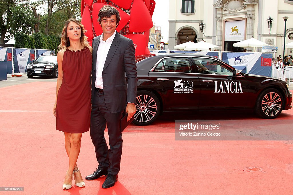 Myriam Catania and Luca Argentero attend the Lancia Cafe during the 69th Venice Film Festival on August 31, 2012 in Venice, Italy.
