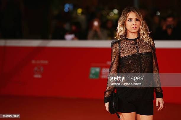 Myriam Catania attends a red carpet for 'Girls Lost' during the 10th Rome Film Fest on October 23 2015 in Rome Italy
