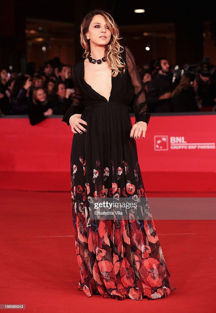 Myriam Catania attends the 'E La Chiamano Estate' Premiere during the 7th Rome Film Festival at the Auditorium Parco Della Musica on November 14, 2012 in Rome, Italy.