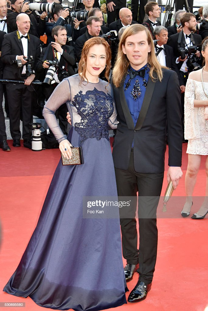 Myriam Charleins and Christophe Guillarme attend the screening of 'Cafe Society' at the opening gala of the annual 69th Cannes Film Festival at...