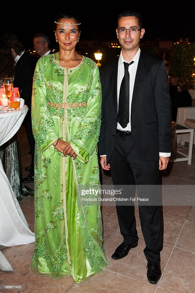 Myriam Kaabeche and lawyer Nassim Terki attend the 'Opera Romeo and Juliette' : Gala to the benefit of the The Children for Peace association, on October 26, 2013 in Monte-Carlo, Monaco.