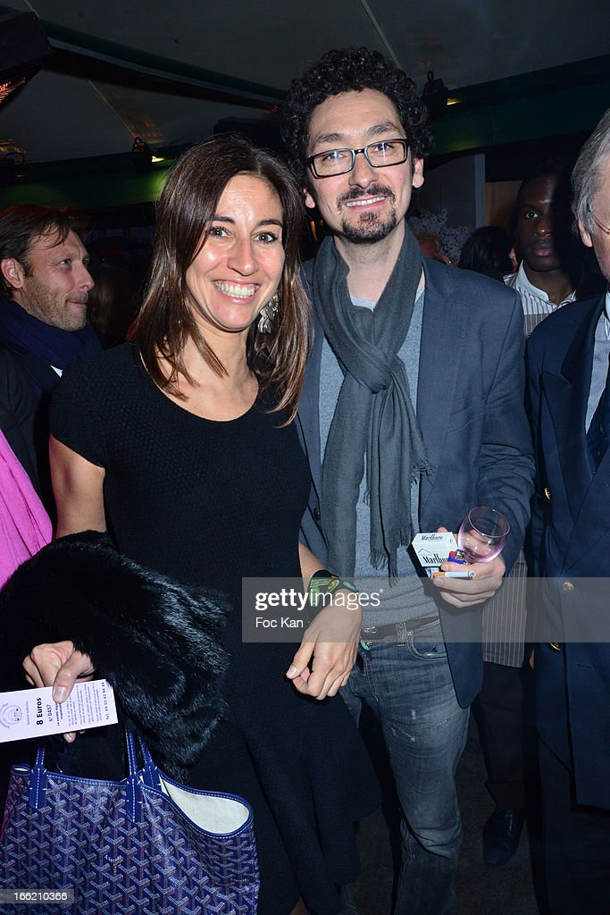 Myriam Kournaf and David Foenkinos attend La Closerie Des Lilas Literary Awards 2013 - 6th Edition At La Closerie Des Lilas on April 9, 2013 in Paris, France.