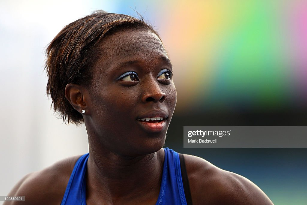 <a gi-track='captionPersonalityLinkClicked' href=/galleries/search?phrase=Myriam+Soumare&family=editorial&specificpeople=5499796 ng-click='$event.stopPropagation()'>Myriam Soumare</a> of France looks on after competing in the women's 100 metres heats during day two of the 13th IAAF World Athletics Championships at the Daegu Stadium on August 28, 2011 in Daegu, South Korea.