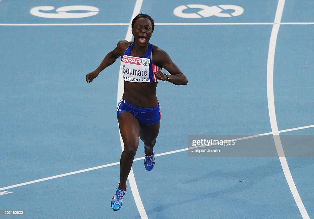 <a gi-track='captionPersonalityLinkClicked' href=/galleries/search?phrase=Myriam+Soumare&family=editorial&specificpeople=5499796 ng-click='$event.stopPropagation()'>Myriam Soumare</a> of France wins gold in the Womens 200m Final during day five of the 20th European Athletics Championships at the Olympic Stadium on July 31, 2010 in Barcelona, Spain.