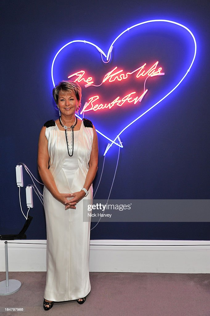 Myriam Ullens attends Mimi Foundation 'The Power of Love' gala dinner and auction at Sotheby's on October 16, 2013 in London, England.
