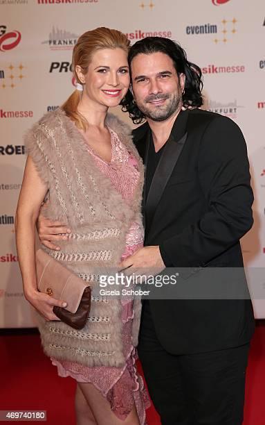 Myriel Brechtel and Marc Terenzi during the LEA Live Entertainment Award 2015 at Festhalle Frankfurt on April 14 2015 in Frankfurt am Main Germany