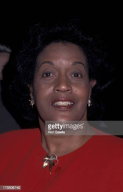 Myrlie Evers attends the premiere of 'Ghosts Of Mississippi' on December 16 1996 at Mann National Theater in Westwood California