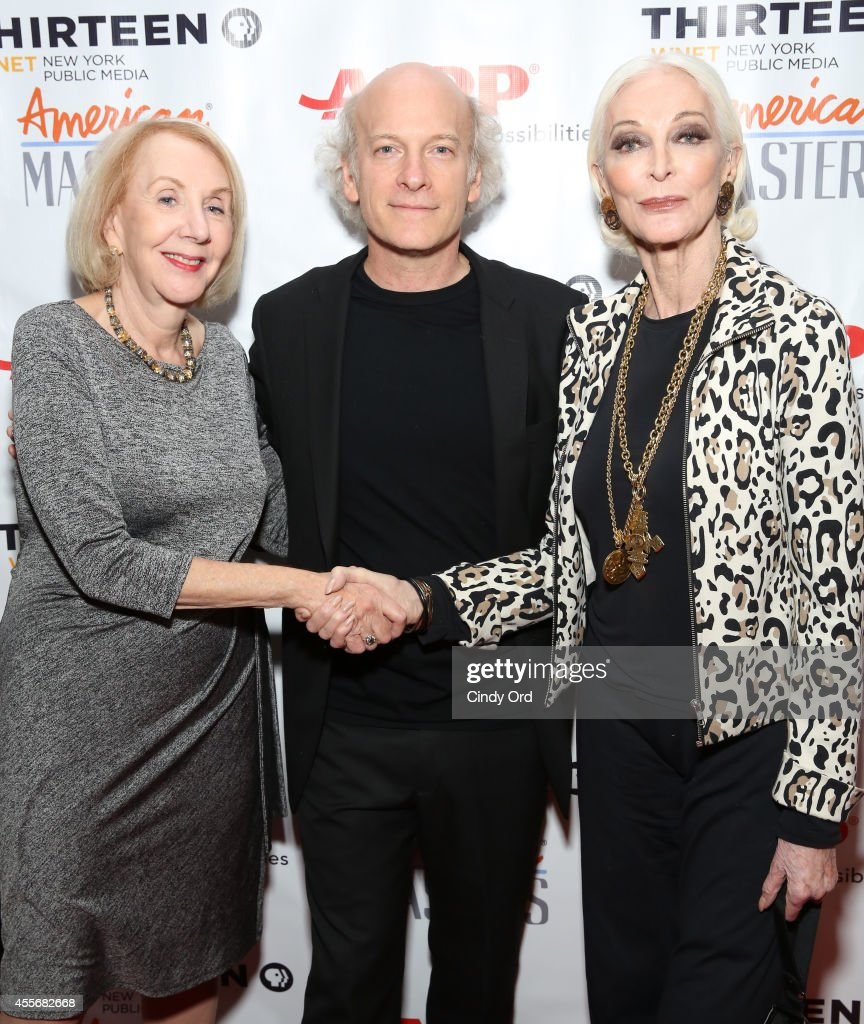 Myrna Blyth Timothy GreenfieldSanders and Carmen Dell'orefice attend American Masters The Boomer List NYC Premiere on September 18 2014 in New York...