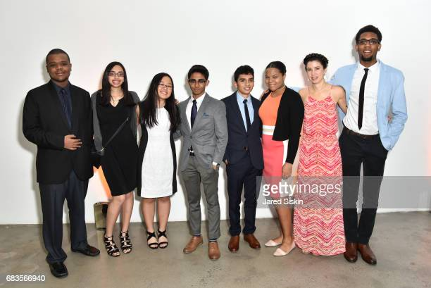 Myrna Caban lezcano poses with The Teen Group at the High Line Spring Benefit at Skylight Modern on May 15 2017 in New York City