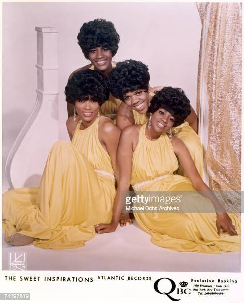 Myrna Smith Sylvia Shemwell Estelle Brown and Cissy Houston of the vocal group 'The Sweet Inspirations' pose for a portrait in circa 1967 in New York...