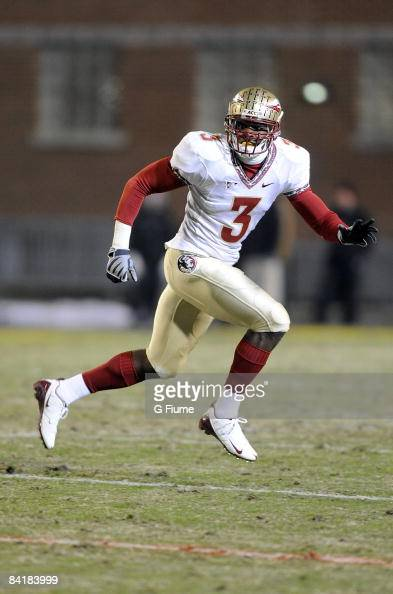 Myron Rolle of the Florida State Seminoles defends against the Maryland Terrapins on November 22 2008 at Byrd Stadium in College Park Maryland