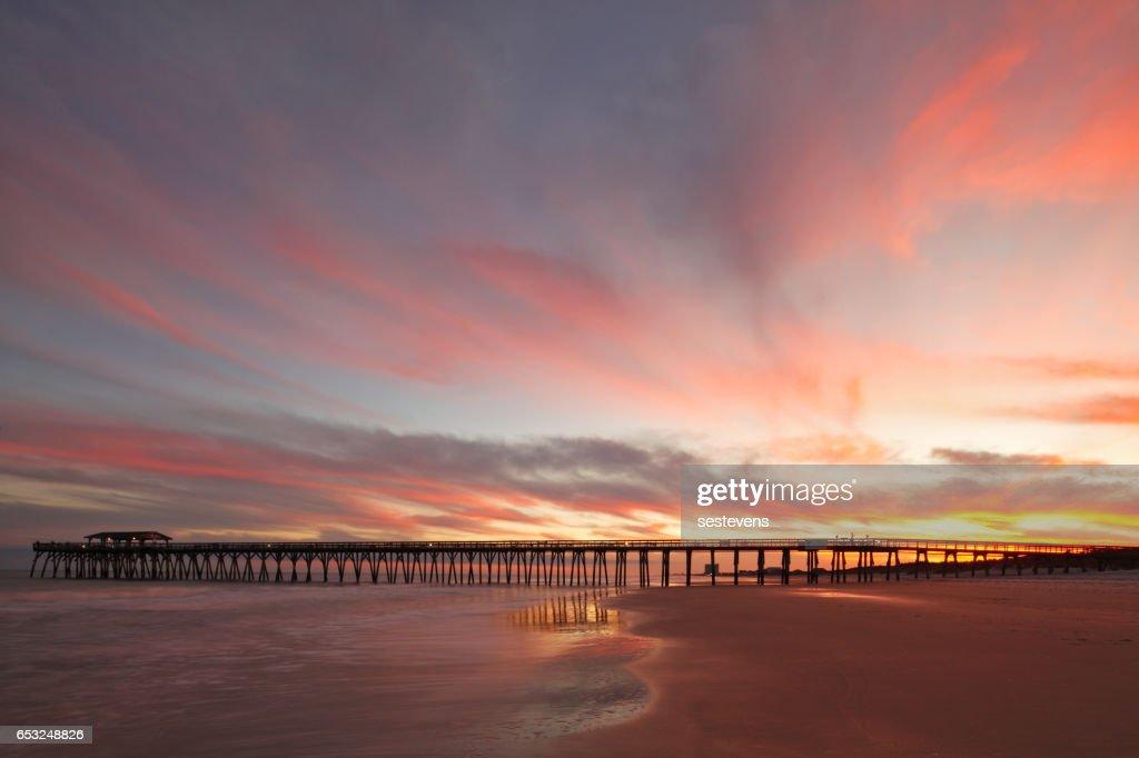 Myrtle Beach Fishing Pier : Foto stock