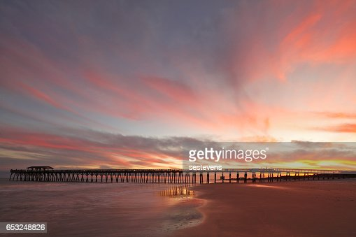 Myrtle Beach Fishing Pier : Stock Photo