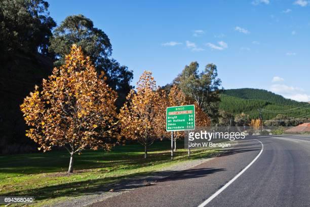 Myrtleford, in Autumn ,Alpineway,Victoria,Australia