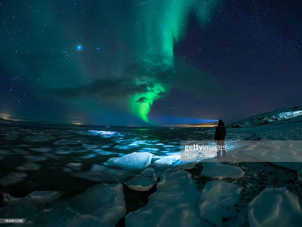 Myself and Aurora : Stock Photo