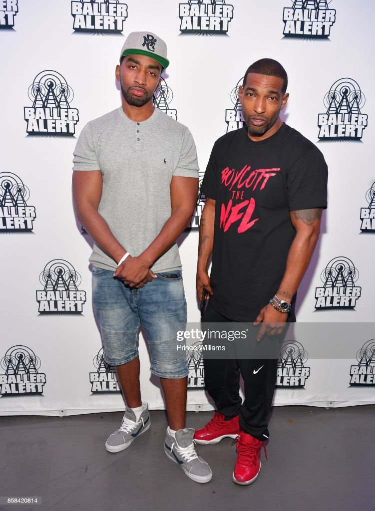 Mysonne and Chi Ali attend Baller Alert's Bowl With a Baller at Basement Bowl on October 5, 2017 in Miami, Florida.