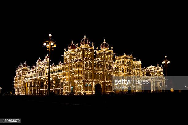 Mysore Palace light up in Deepavali festival