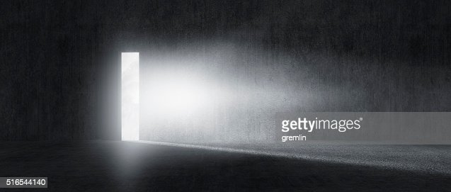 Mysterious door with glowing light