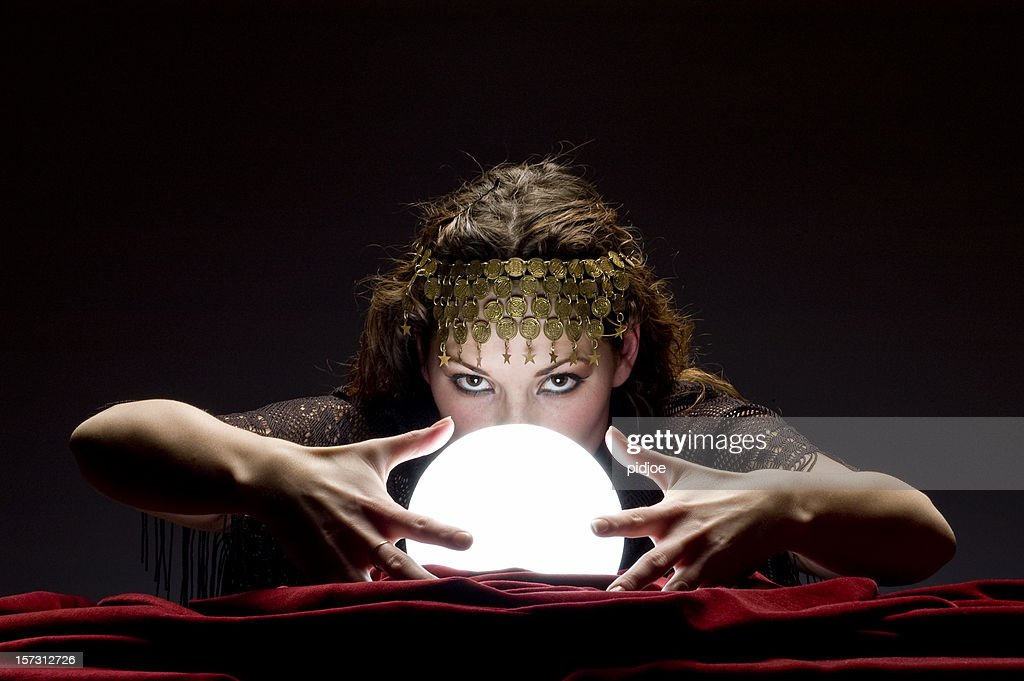 mysterious fortune teller : Stock Photo