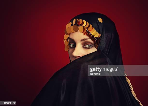 Mysterious girl under the veil