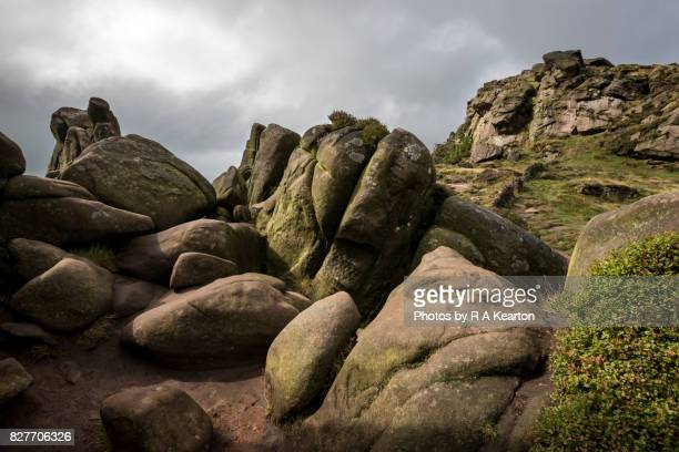 Mysterious rocky landscape at The Roaches, Staffordshire, England