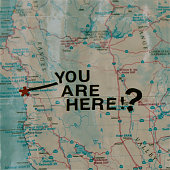 """""""You Are Here!?"""" on map with most visible identifying locations removed"""