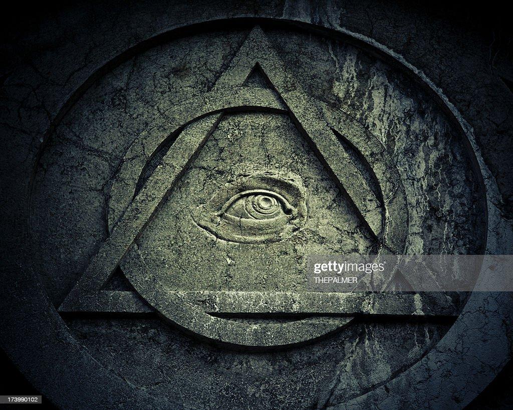 Mystic Eye symbol with interlocking circle and triangle